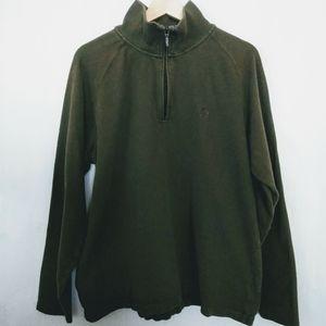 Timberland Green Qtr Zip Cotton Pullover